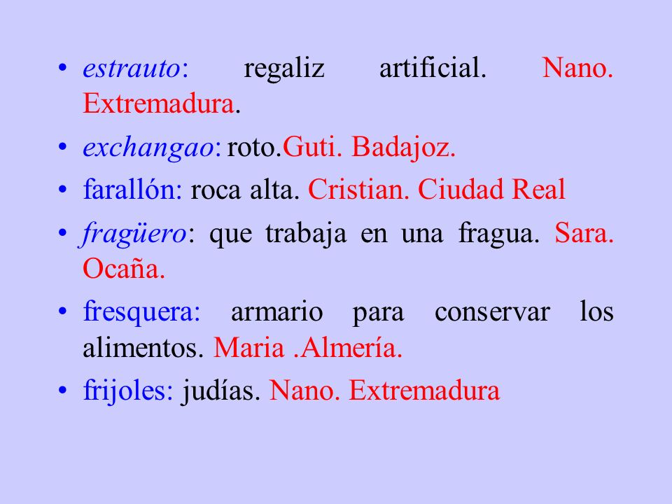 estrauto: regaliz artificial. Nano. Extremadura.
