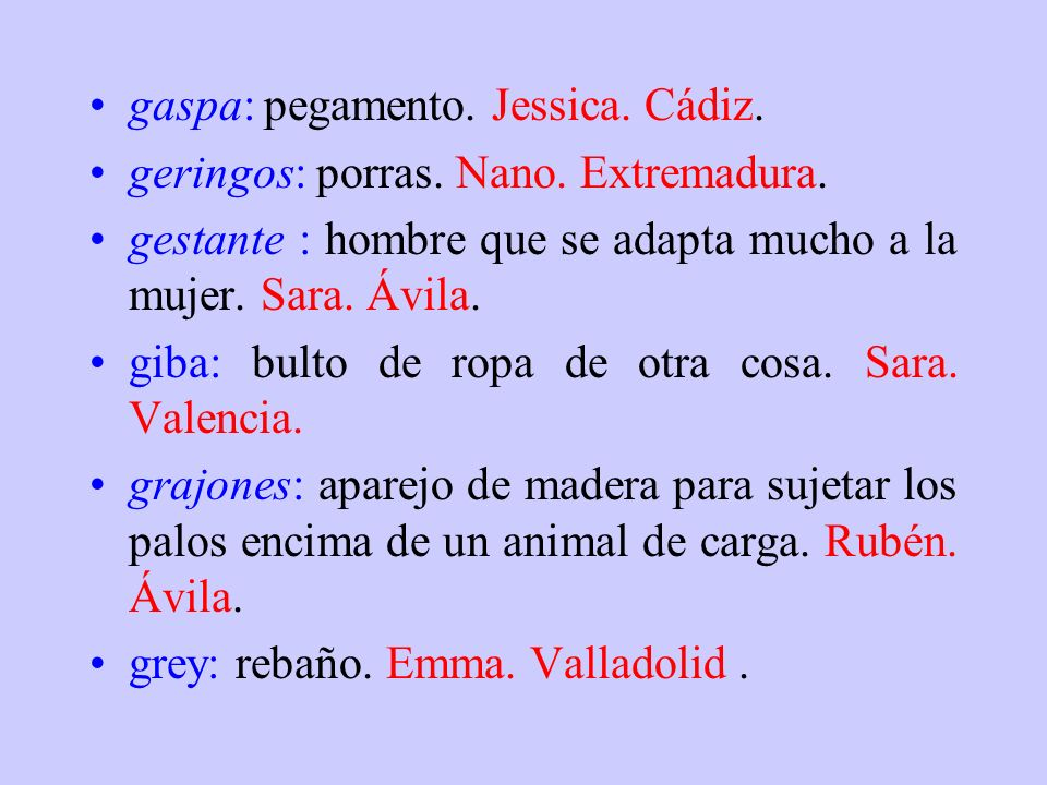 gaspa: pegamento. Jessica. Cádiz.