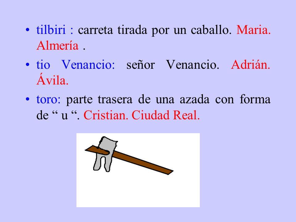 tilbiri : carreta tirada por un caballo. Maria. Almería .