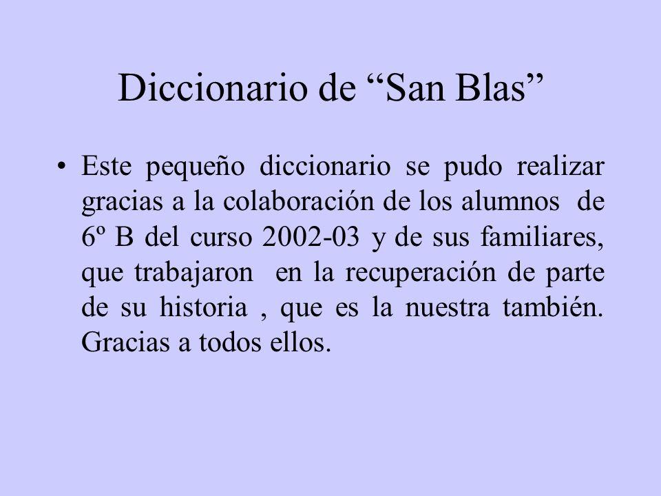 Diccionario de San Blas