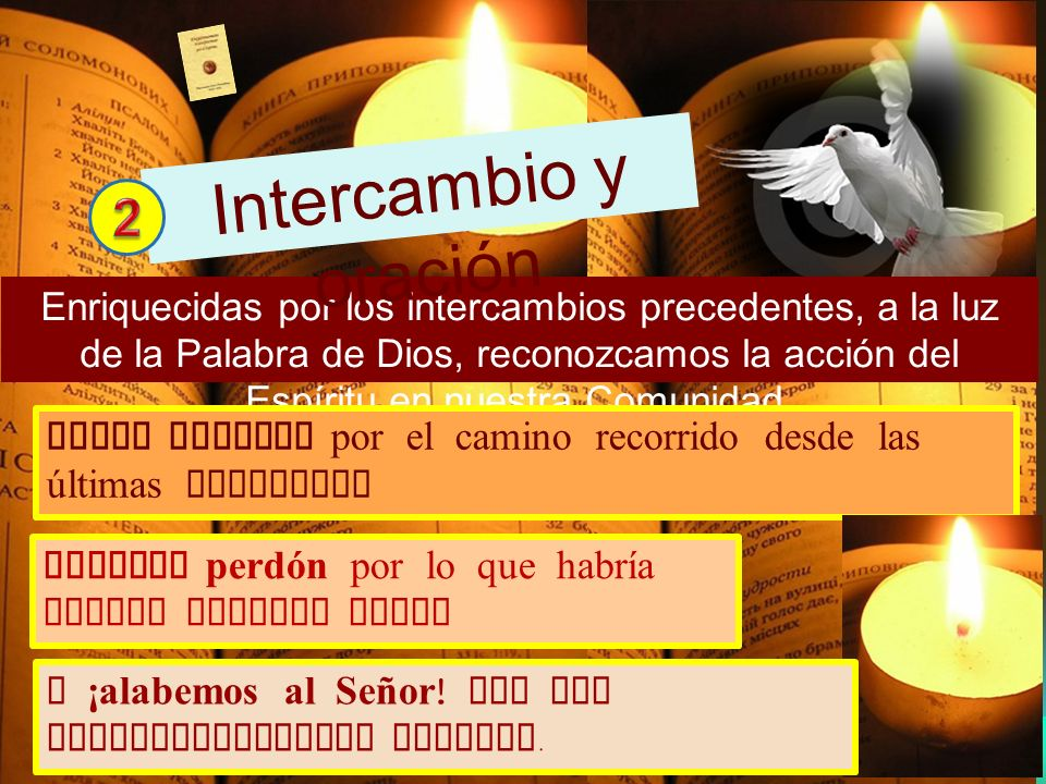 Intercambio y oración 2.