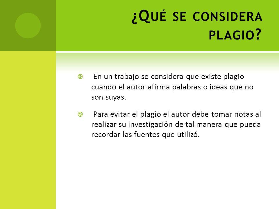 ¿Qué se considera plagio