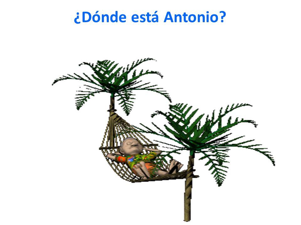 ¿Dónde está Antonio