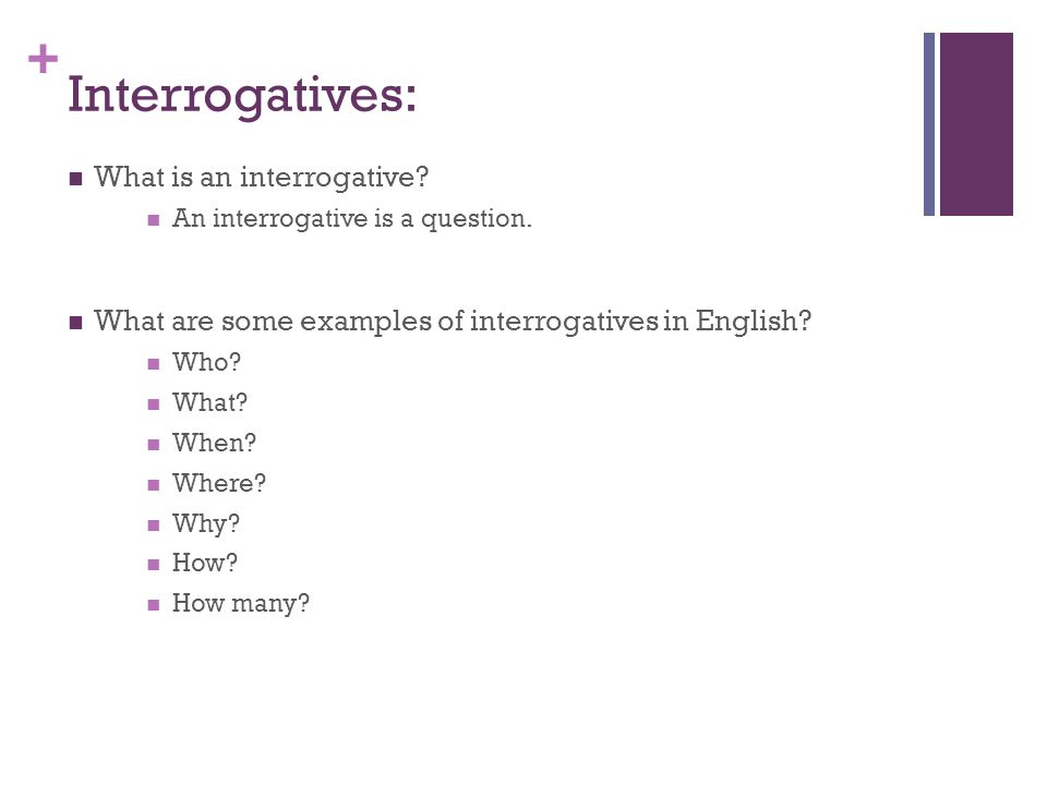 Interrogatives: What is an interrogative