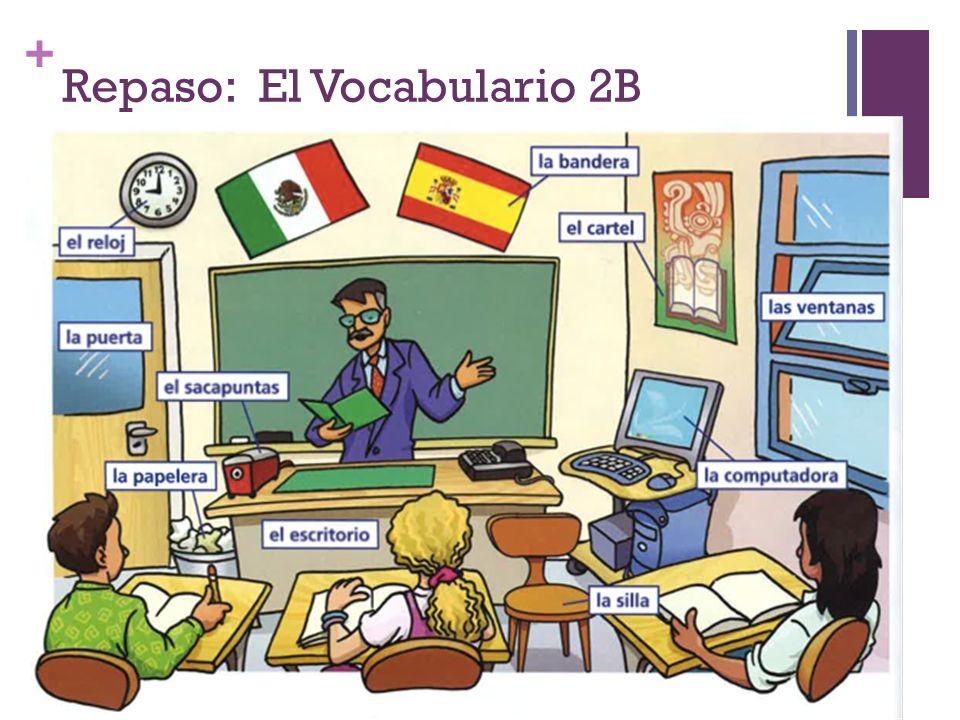 Repaso: El Vocabulario 2B