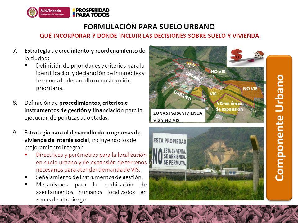 FORMULACIÓN PARA SUELO URBANO