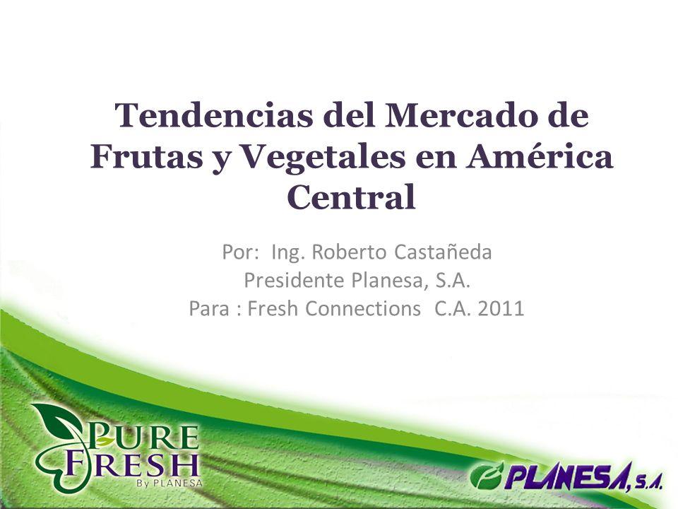 Tendencias del Mercado de Frutas y Vegetales en América Central