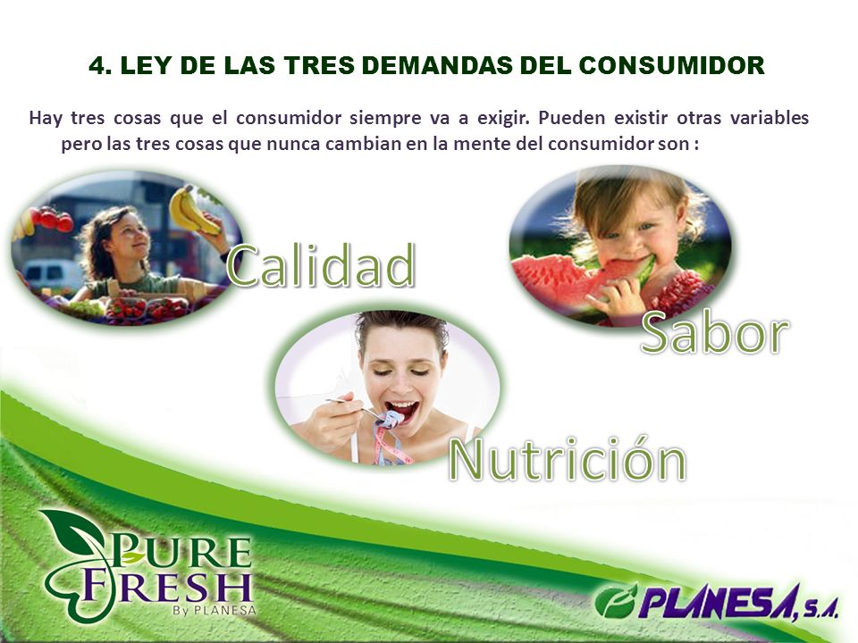 4. LEY DE LAS TRES DEMANDAS DEL CONSUMIDOR