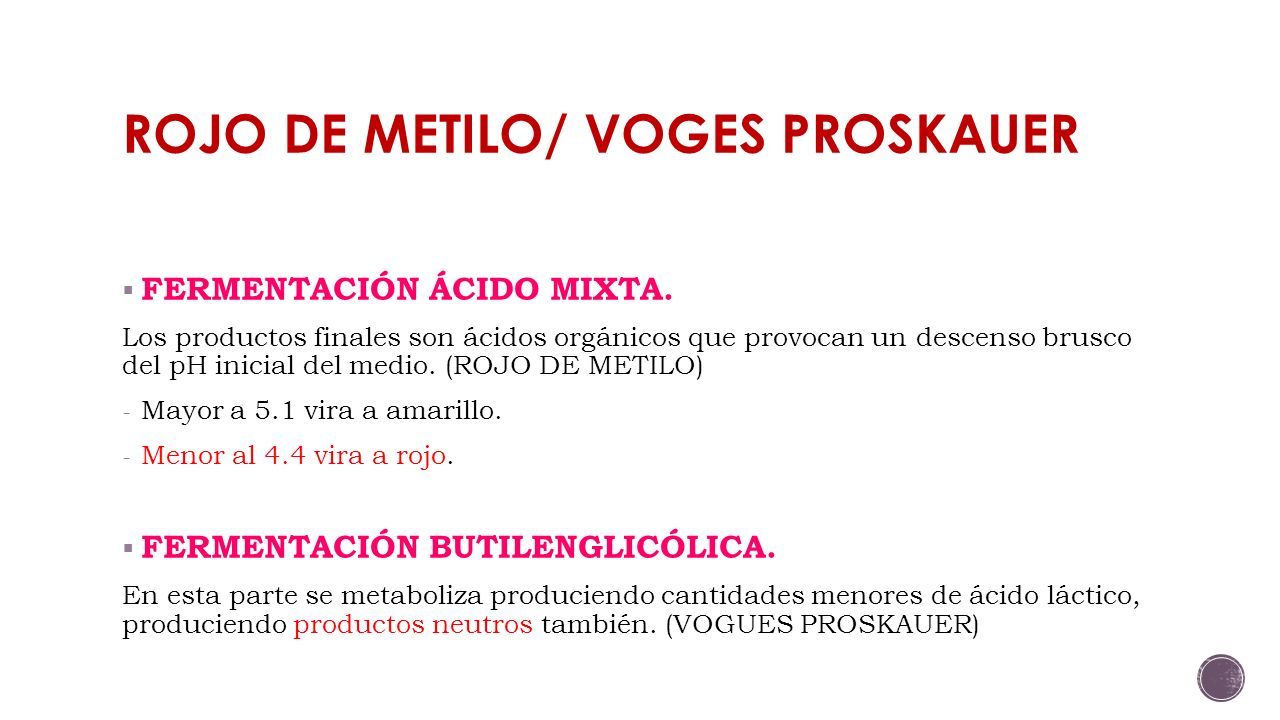 ROJO DE METILO/ VOGES PROSKAUER