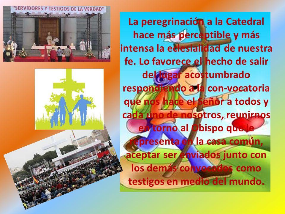 La peregrinación a la Catedral hace más perceptible y más intensa la eclesialidad de nuestra fe.