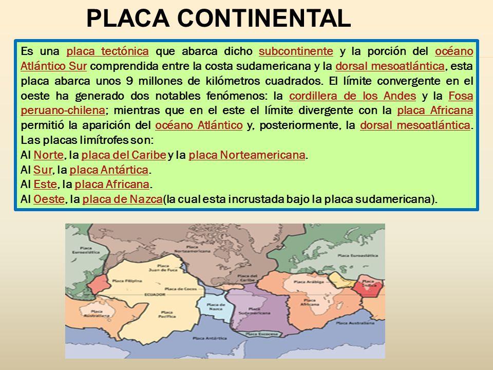 PLACA CONTINENTAL