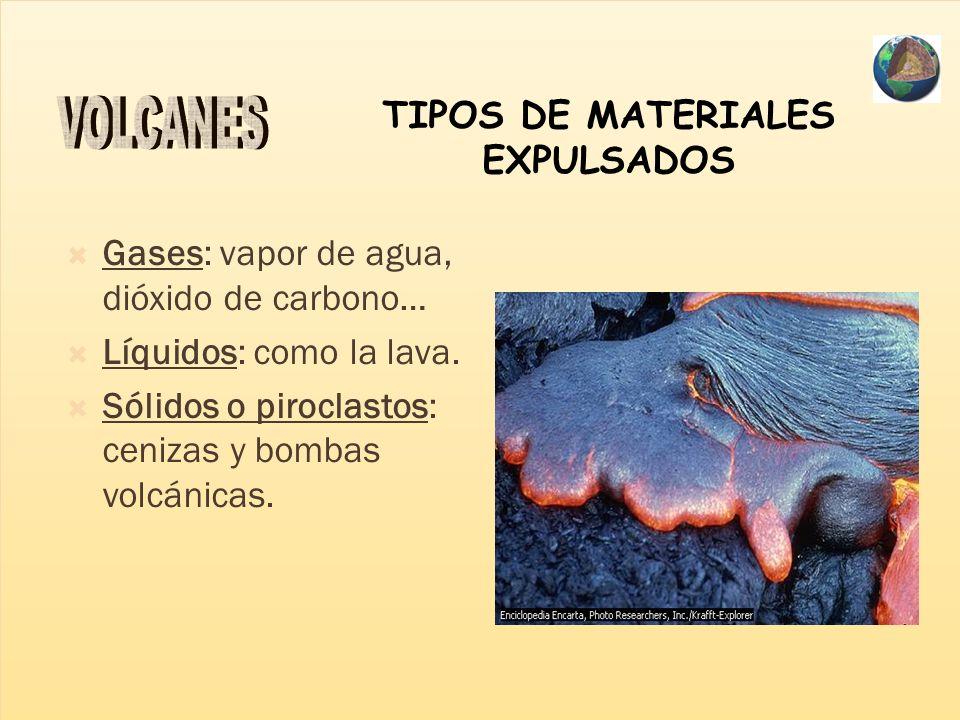 TIPOS DE MATERIALES EXPULSADOS