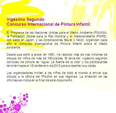 Concurso Internacional de Pintura Infantil