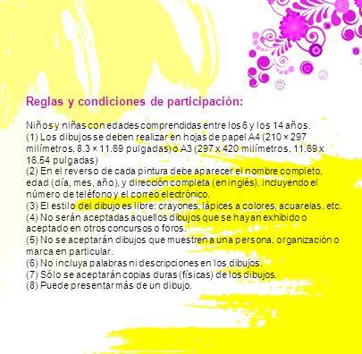 Reglas y condiciones de participación: