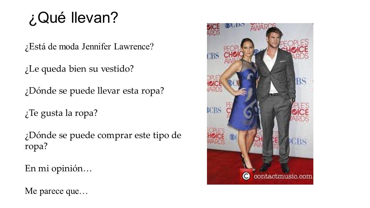 ¿Qué llevan ¿Está de moda Jennifer Lawrence