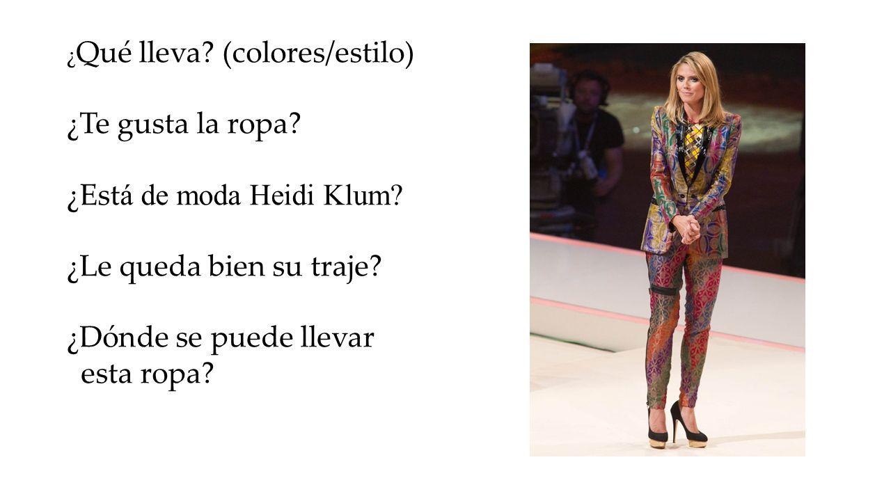 ¿Está de moda Heidi Klum ¿Le queda bien su traje