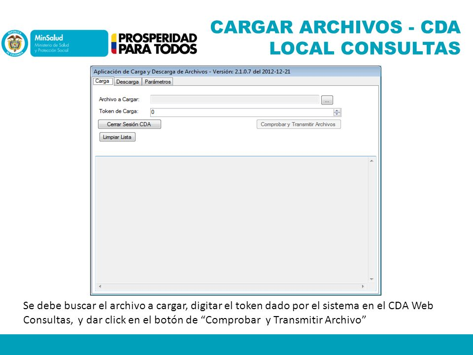 CARGAR ARCHIVOS - CDA LOCAL CONSULTAS