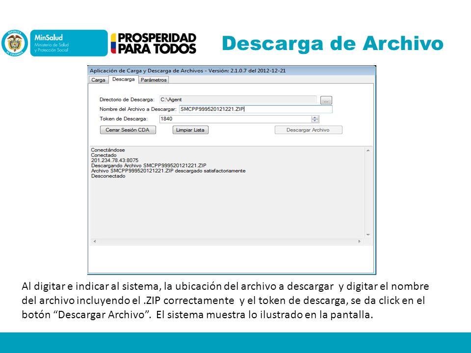 Descarga de Archivo