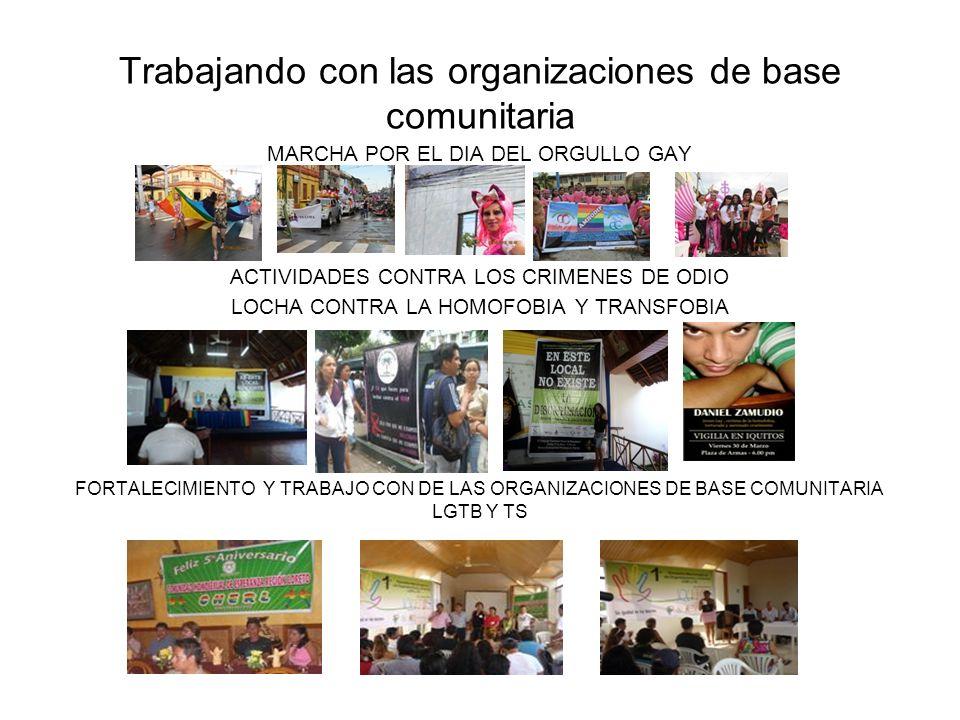 Trabajando con las organizaciones de base comunitaria