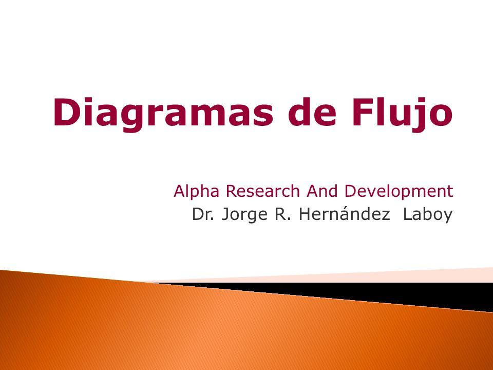 Diagramas de Flujo Dr. Jorge R. Hernández Laboy