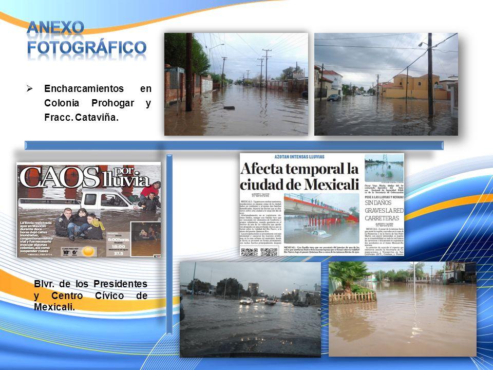 Anexo Fotográfico Encharcamientos en Colonia Prohogar y Fracc.