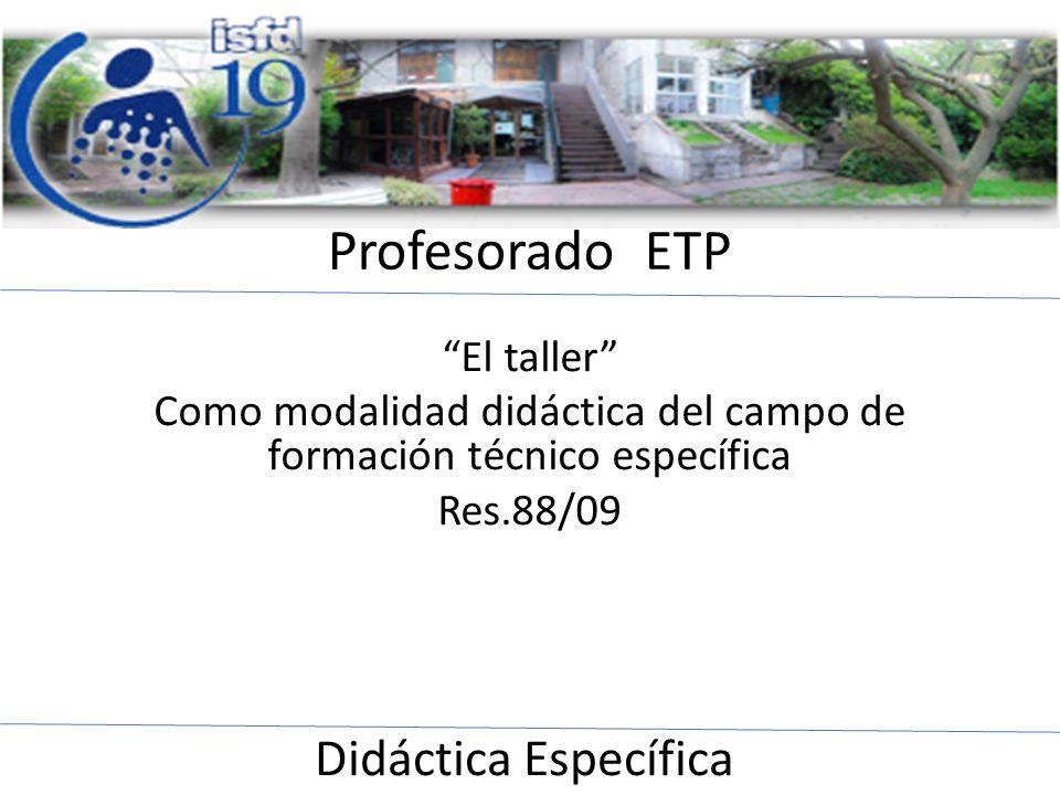 Como modalidad didáctica del campo de formación técnico específica