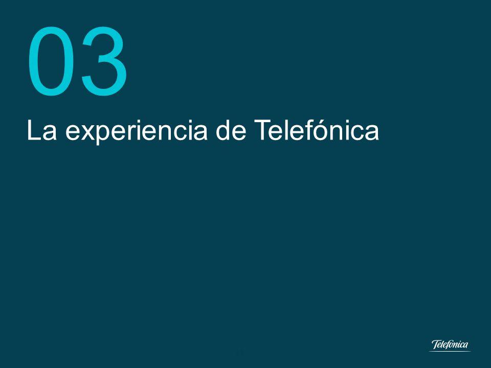 03 La experiencia de Telefónica 12 12