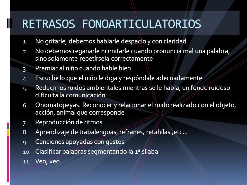 RETRASOS FONOARTICULATORIOS