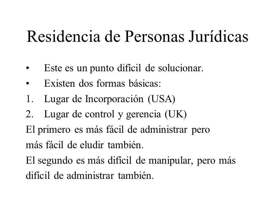 Residencia de Personas Jurídicas