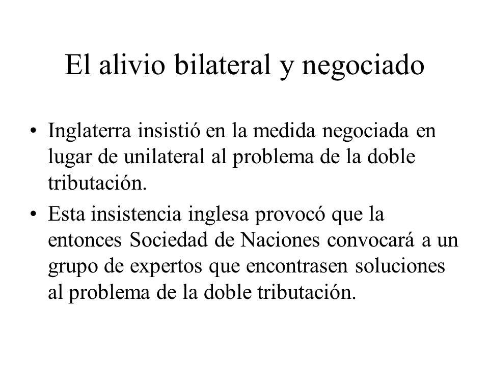 El alivio bilateral y negociado