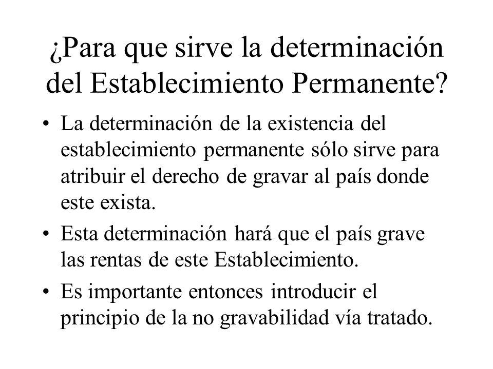 ¿Para que sirve la determinación del Establecimiento Permanente