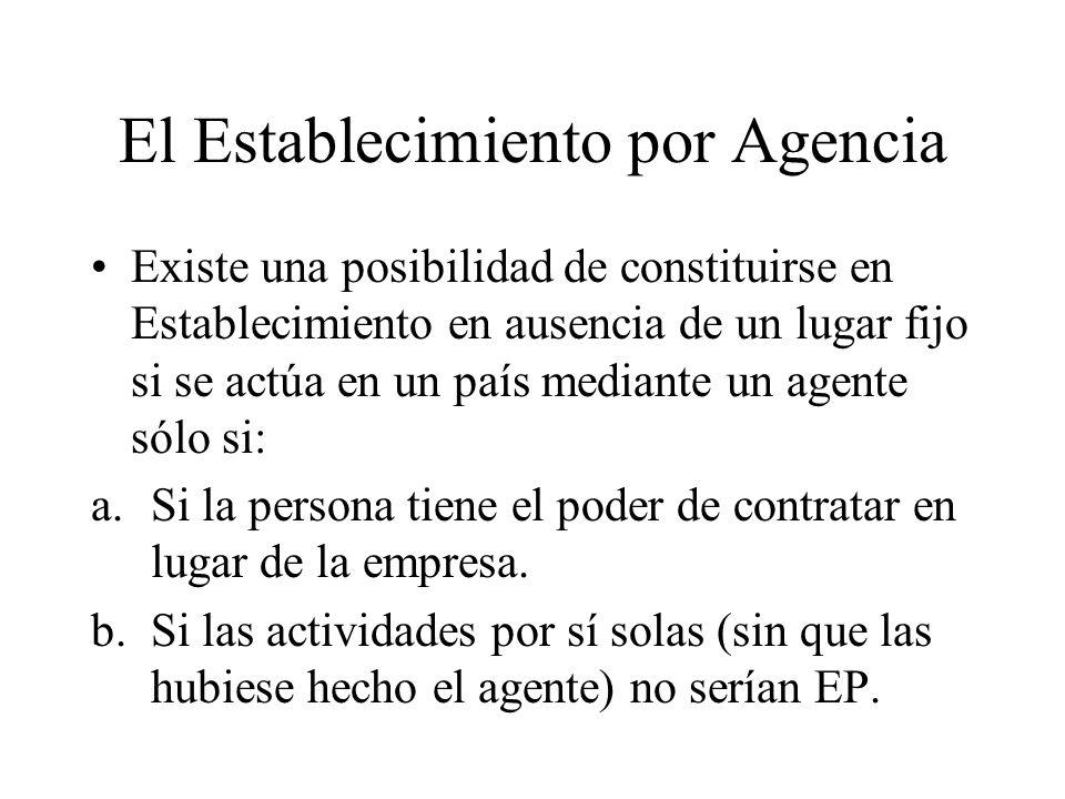 El Establecimiento por Agencia