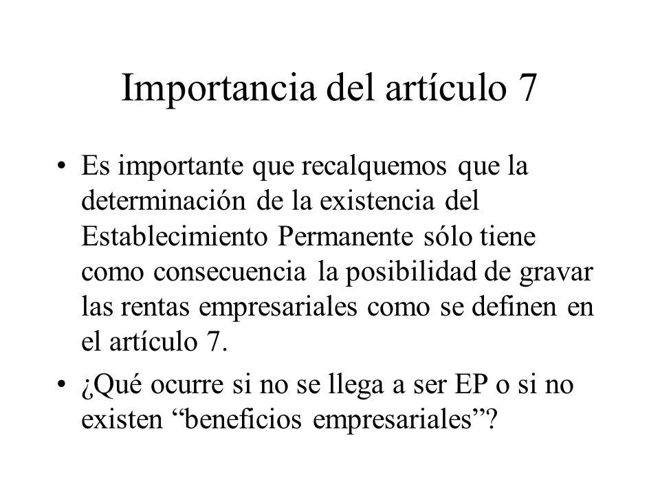 Importancia del artículo 7