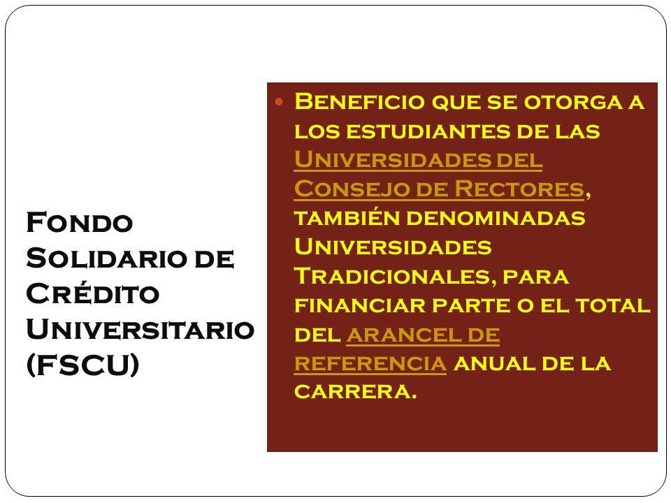 Fondo Solidario de Crédito Universitario (FSCU)