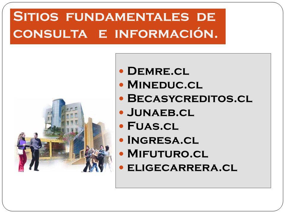 Sitios fundamentales de consulta e información.