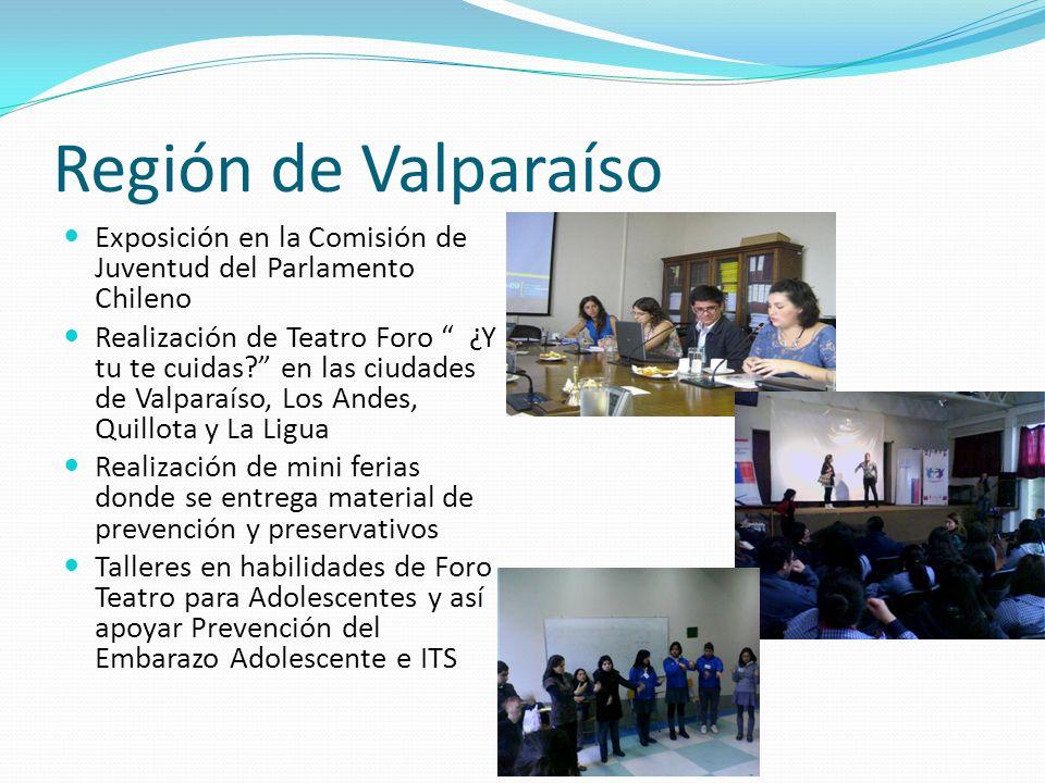 Región de Valparaíso Exposición en la Comisión de Juventud del Parlamento Chileno.