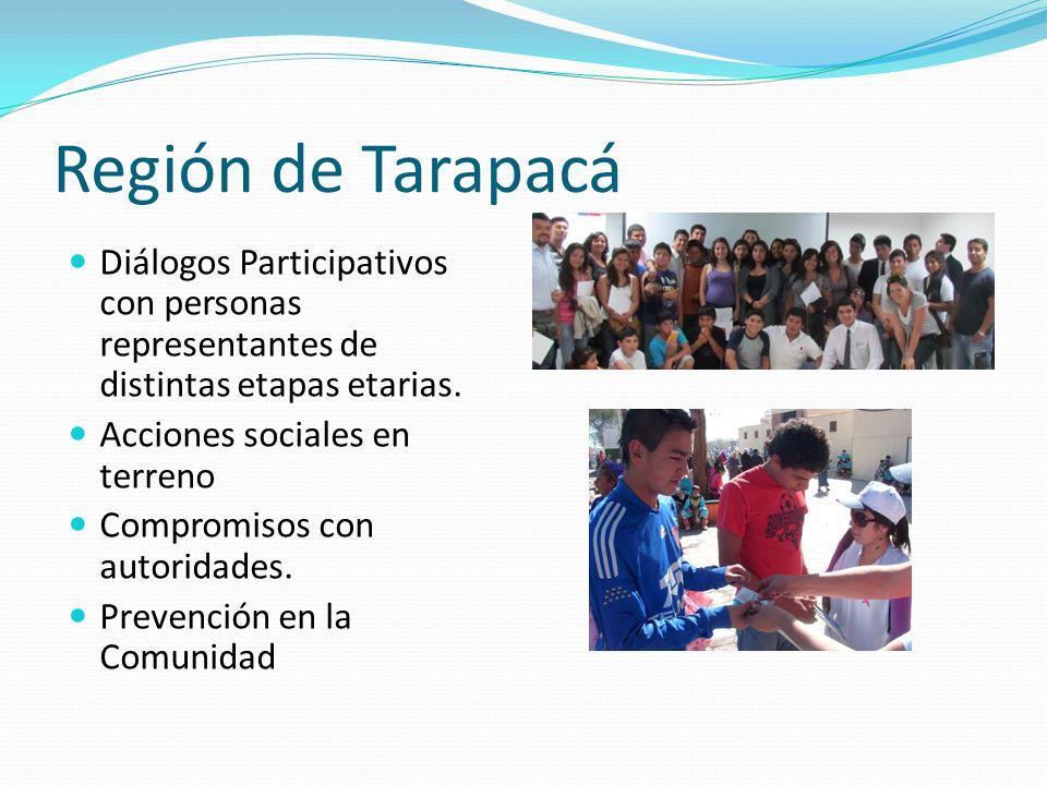 Región de Tarapacá Diálogos Participativos con personas representantes de distintas etapas etarias.