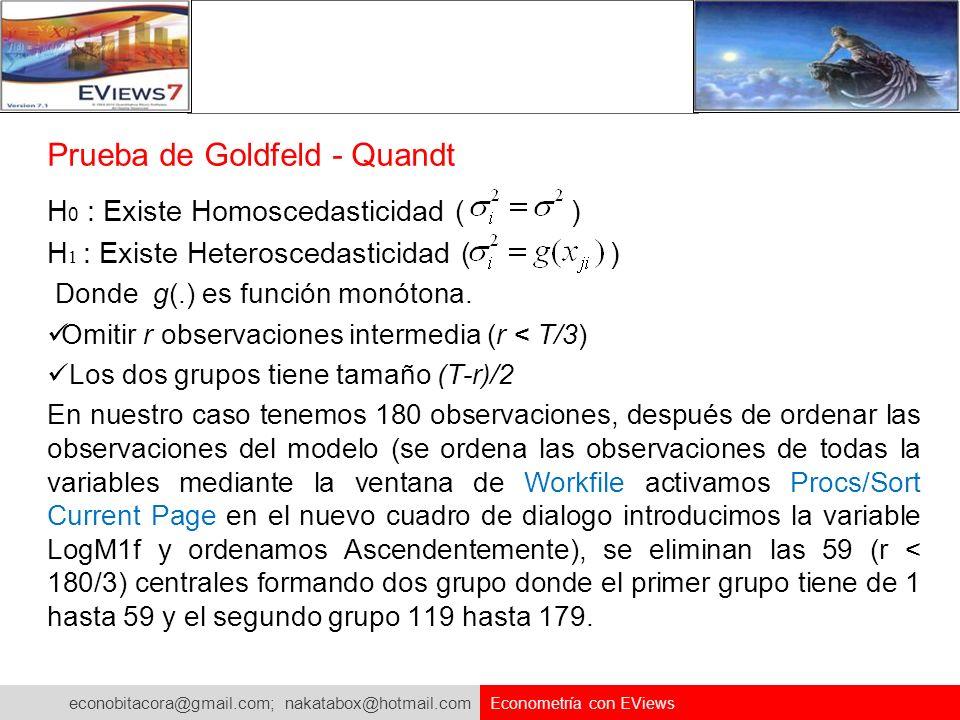 Prueba de Goldfeld - Quandt