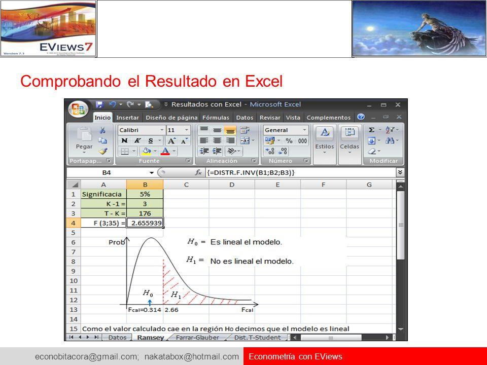 Comprobando el Resultado en Excel