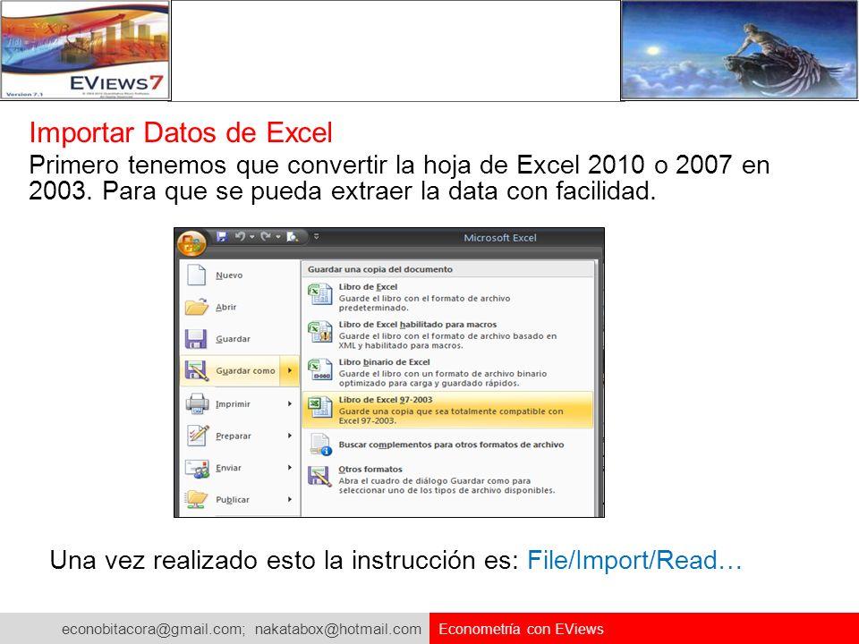 Importar Datos de Excel