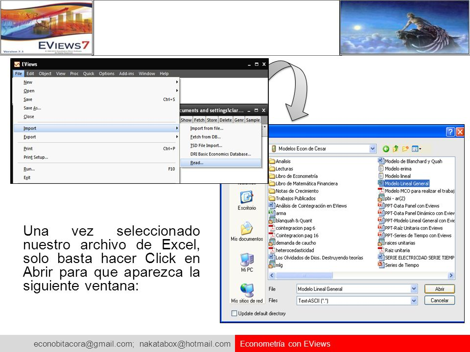 Una vez seleccionado nuestro archivo de Excel, solo basta hacer Click en Abrir para que aparezca la siguiente ventana: