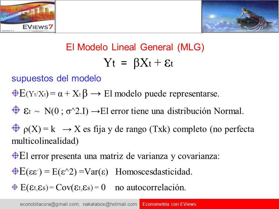 El Modelo Lineal General (MLG)