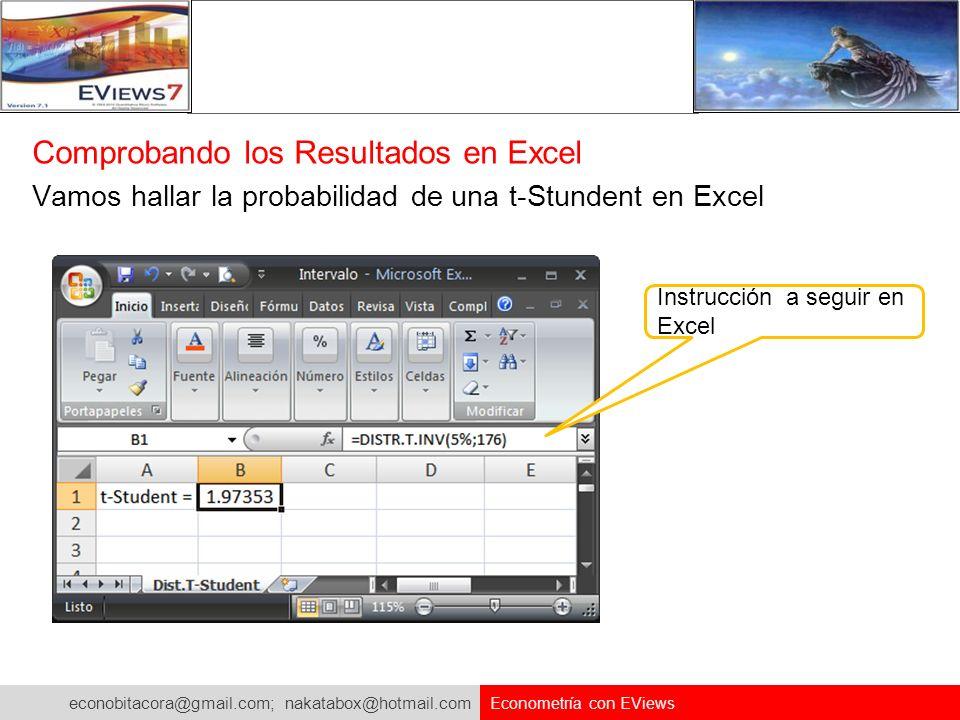 Comprobando los Resultados en Excel