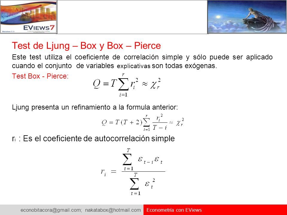 Test de Ljung – Box y Box – Pierce