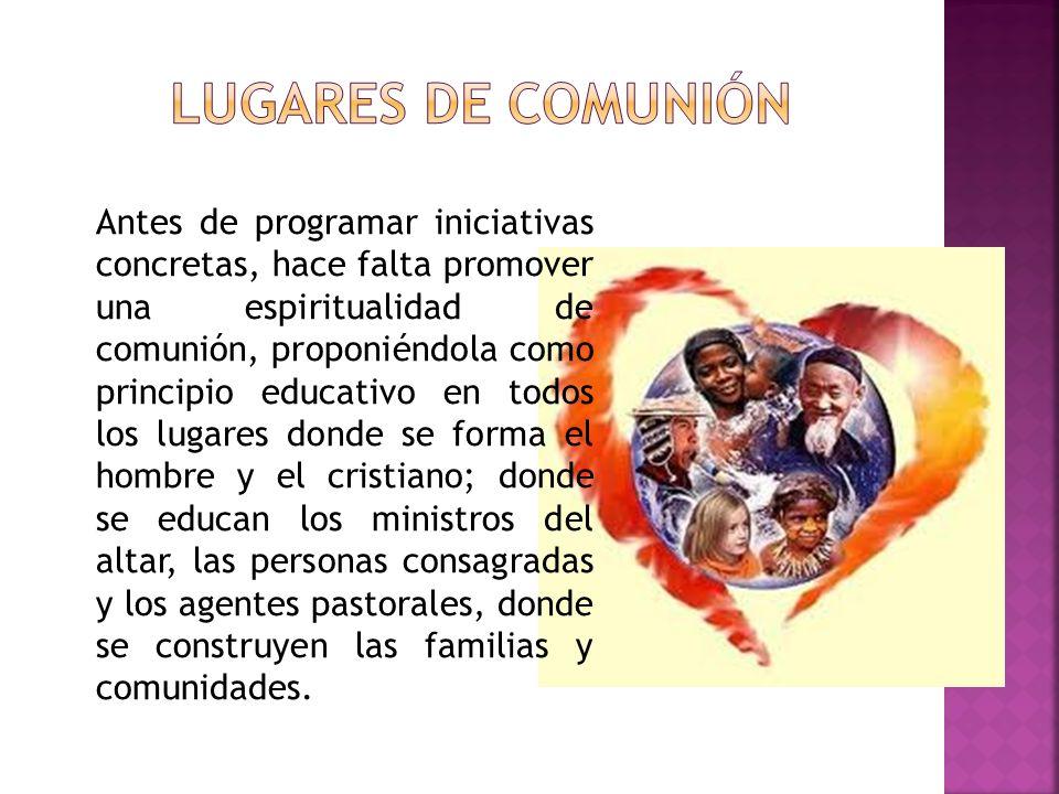 LUGARES DE COMUNIÓN
