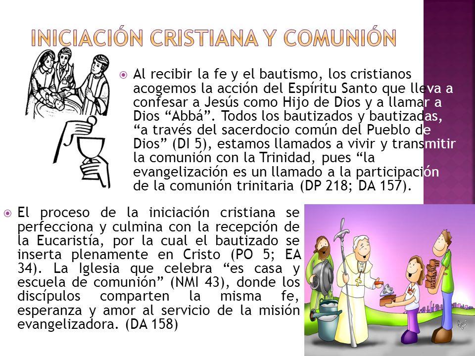 INICIACIÓN CRISTIANA Y COMUNIÓN