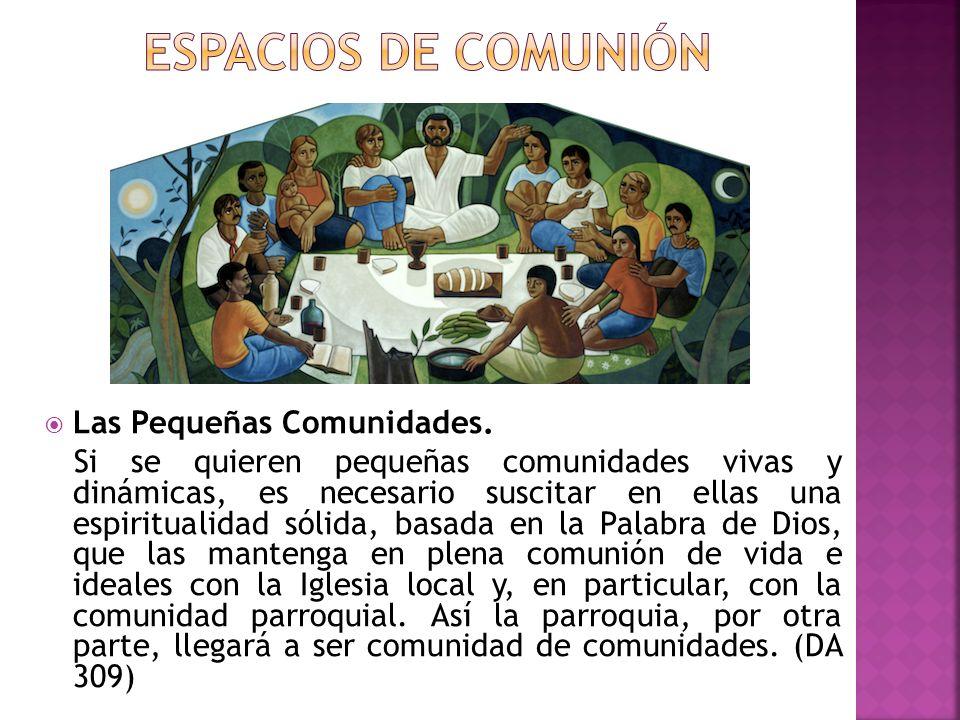 Espacios de Comunión Las Pequeñas Comunidades.
