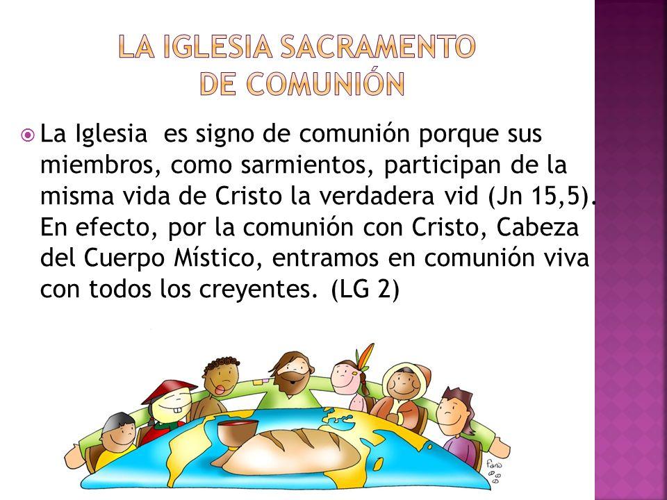 LA IGLESIA SACRAMENTO DE COMUNIÓN