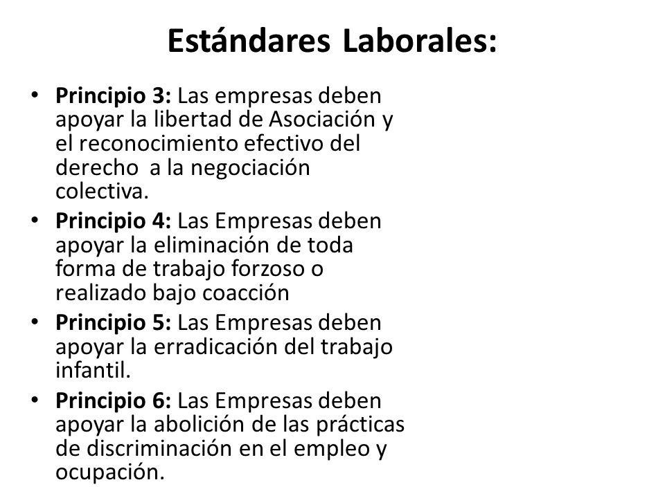 Estándares Laborales: