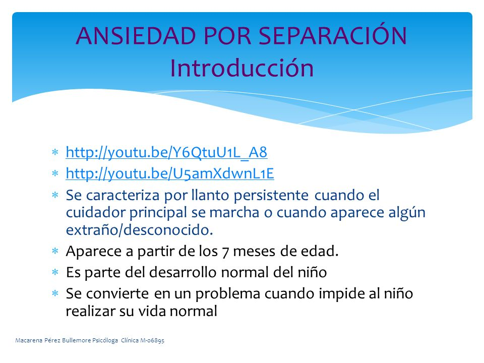 ANSIEDAD POR SEPARACIÓN Introducción